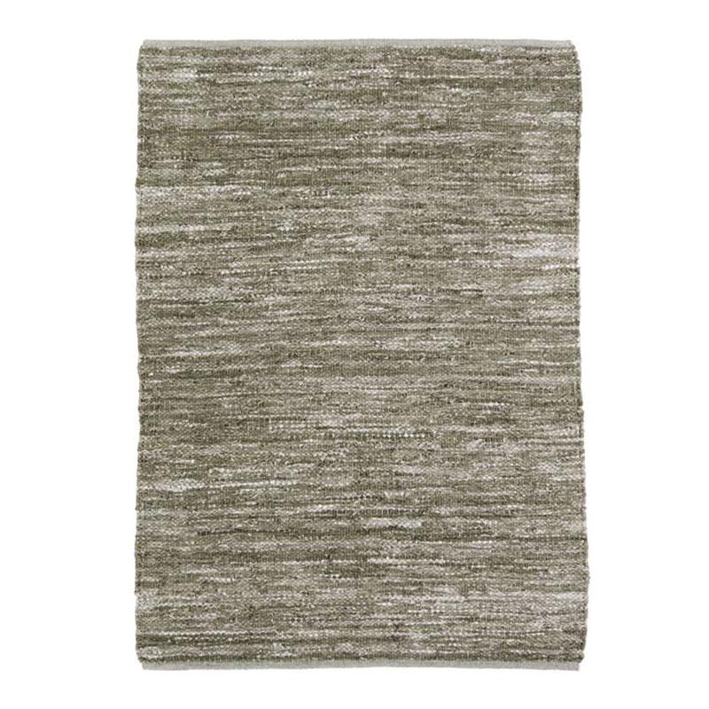 Tapis en cuir tressé beige naturel 160x230