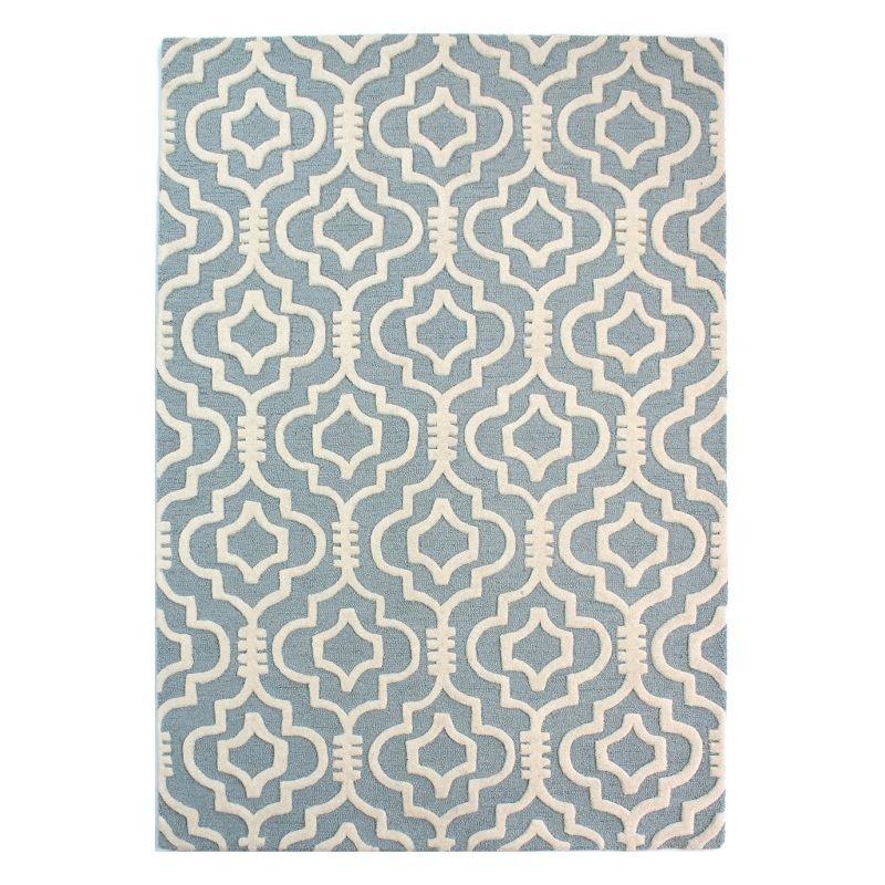 NADOR - Tapis en Laine Bleu clair 80 x 150 cm