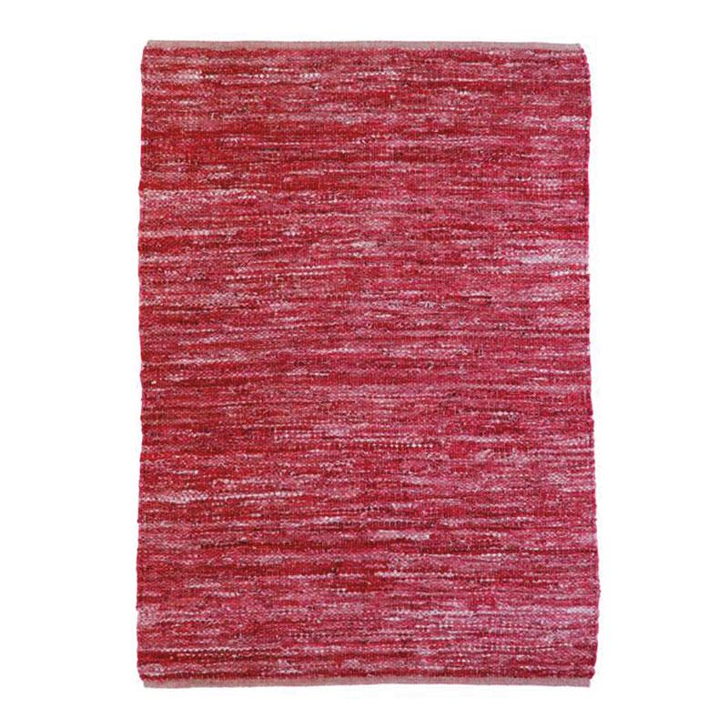 Tapis en cuir tressé burgundy 190x290