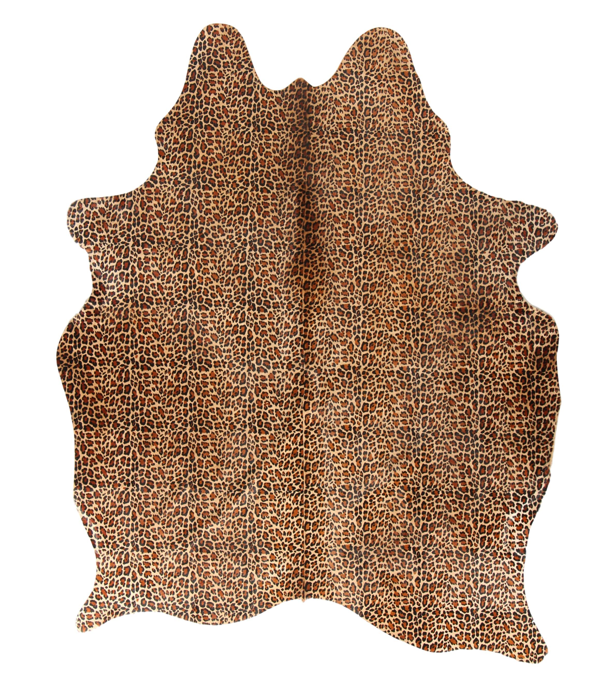 Tapis en peau de vache safari léopard 180x200