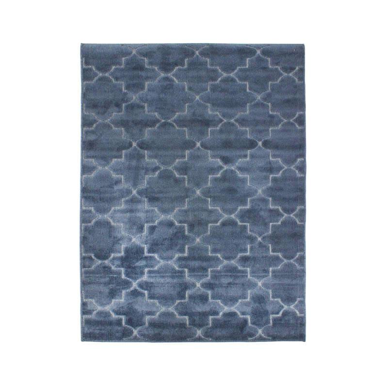 Tapis à motifs arabesques bleu 133x180