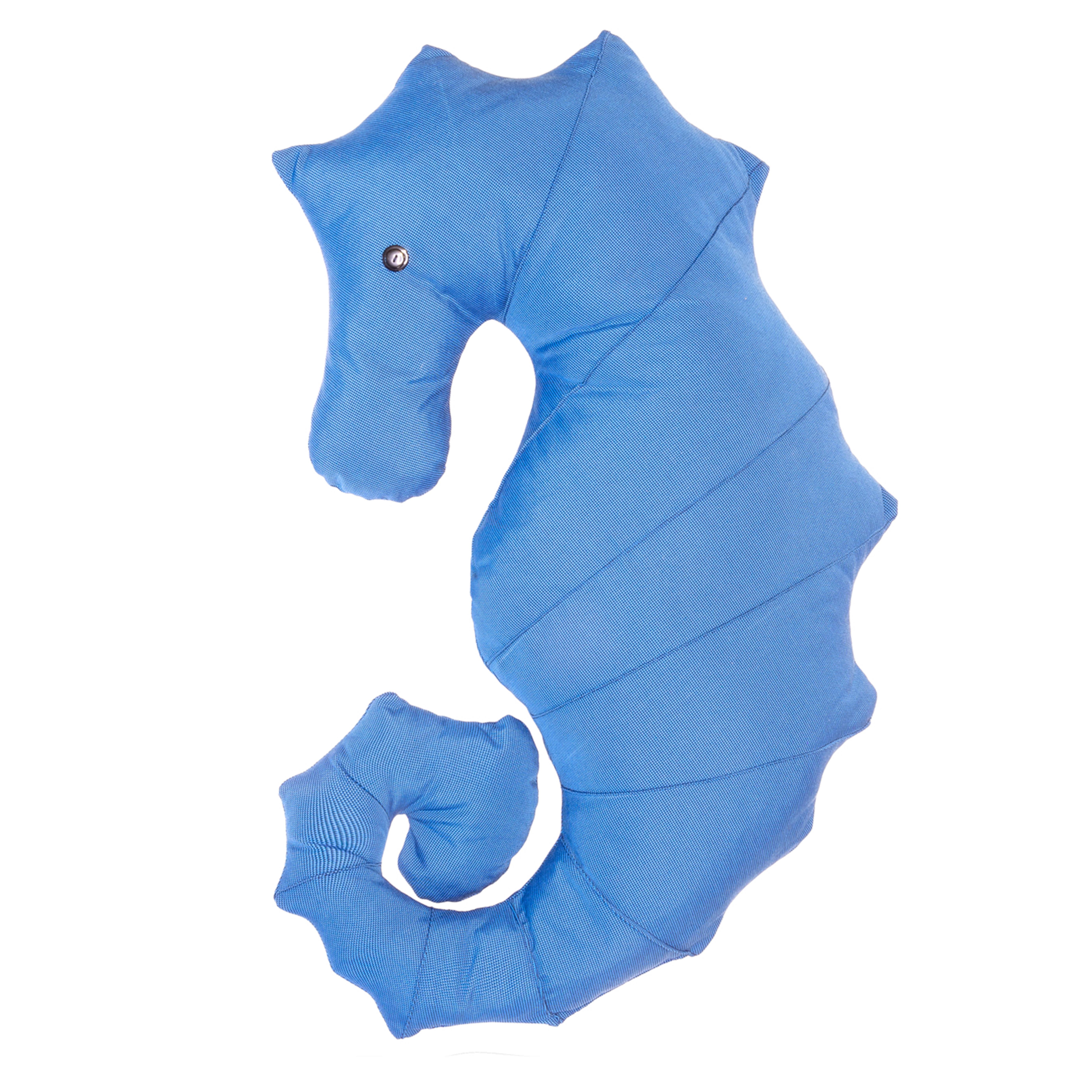 Coussin extérieur hippocampe bleu marine