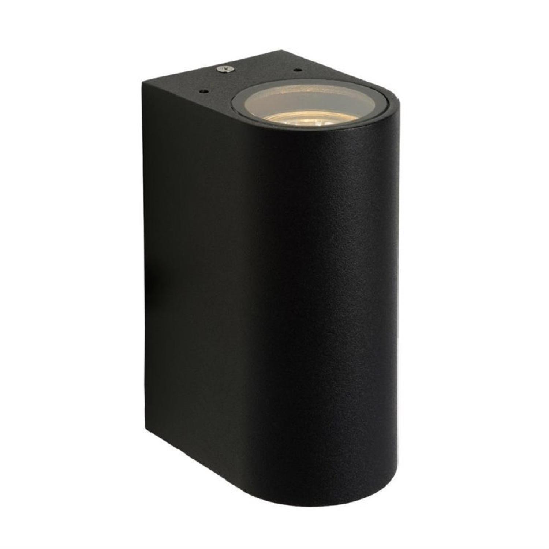 Applique d'extérieur 2 lumières métal noir H15cm