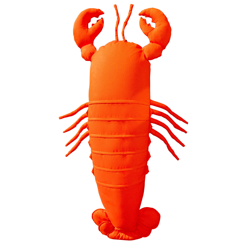 Pouf homard extérieur flottant orange vif