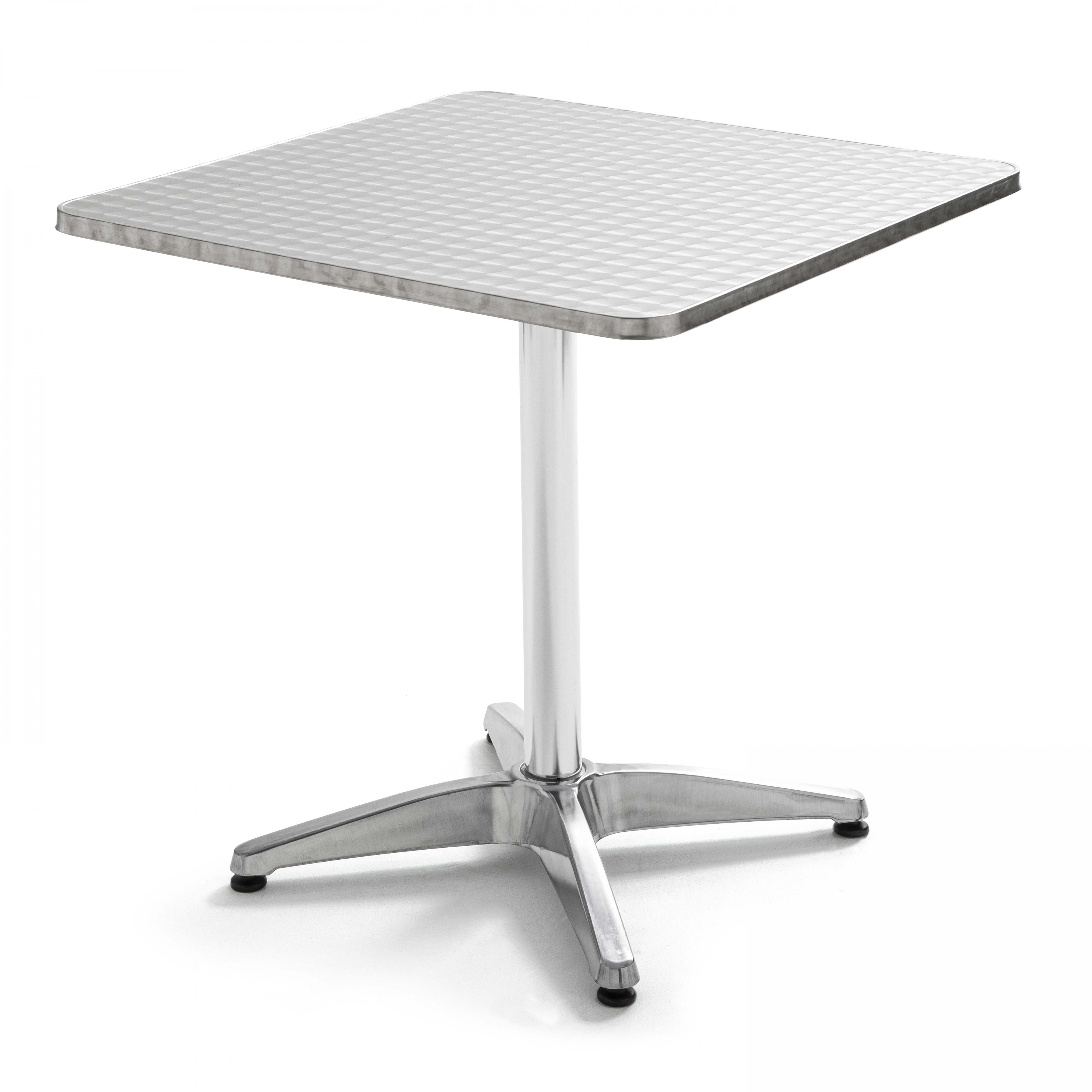 Table de jardin carrée en aluminium
