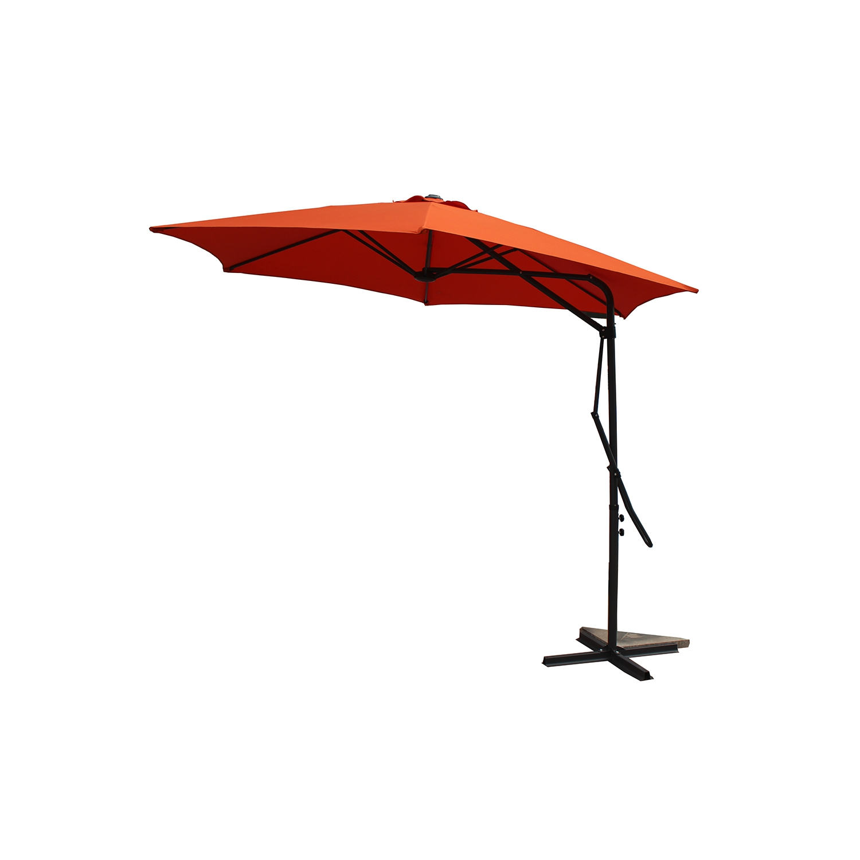 Parasol déporté avec ouverture innovante D 3 m terracotta