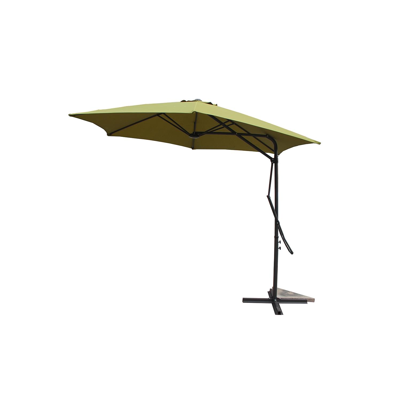 Parasol déporté avec ouverture innovante D 3 m vert