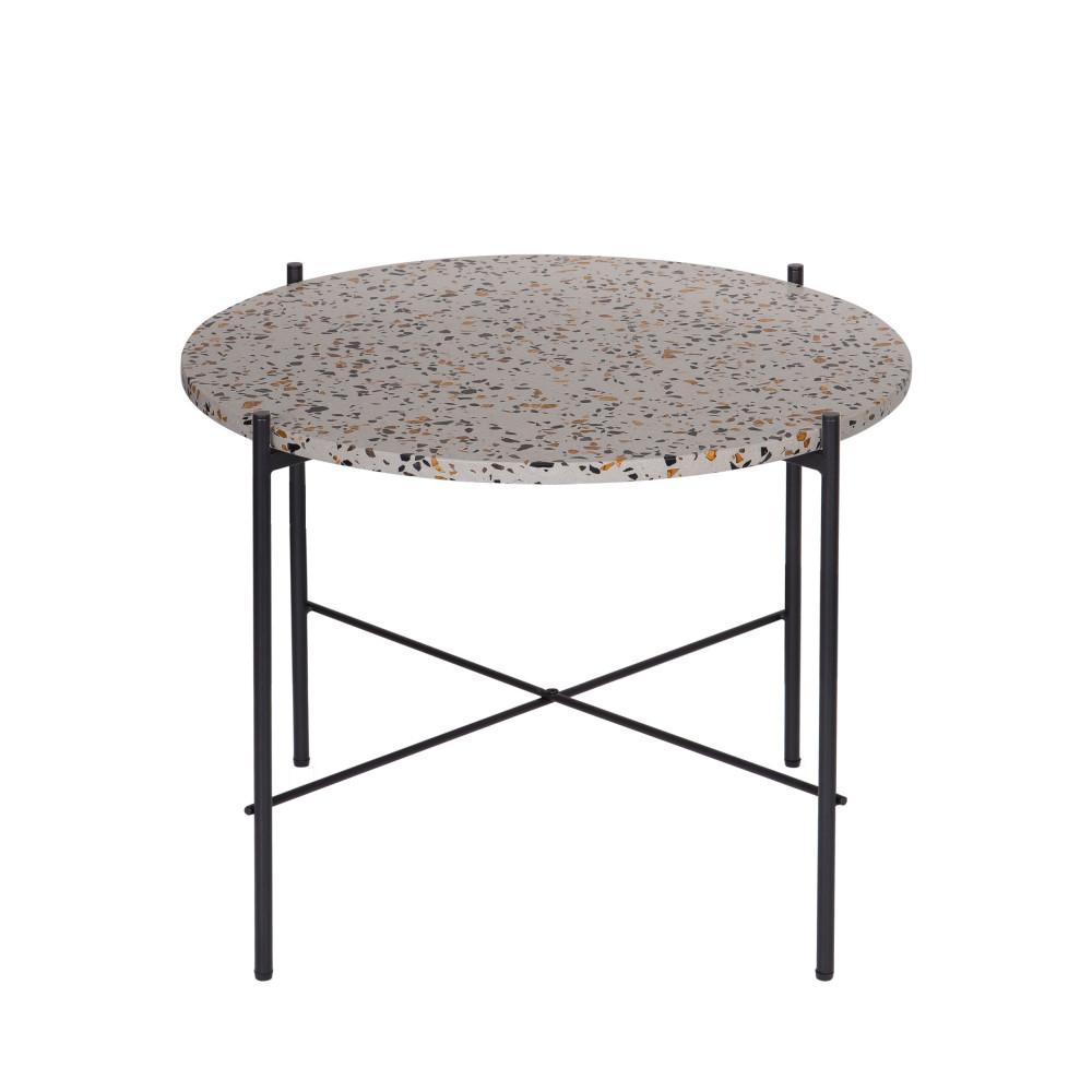 Table d'appoint en terrazzo ⌀63 gris