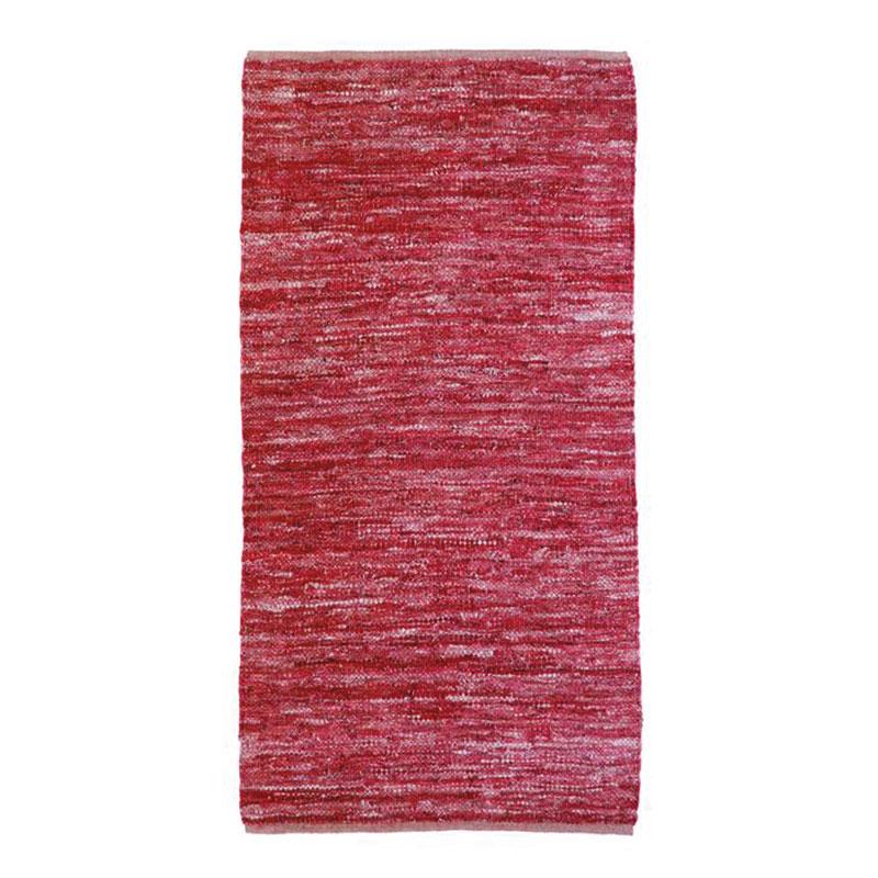 Tapis en cuir tressé burgundy 60x120