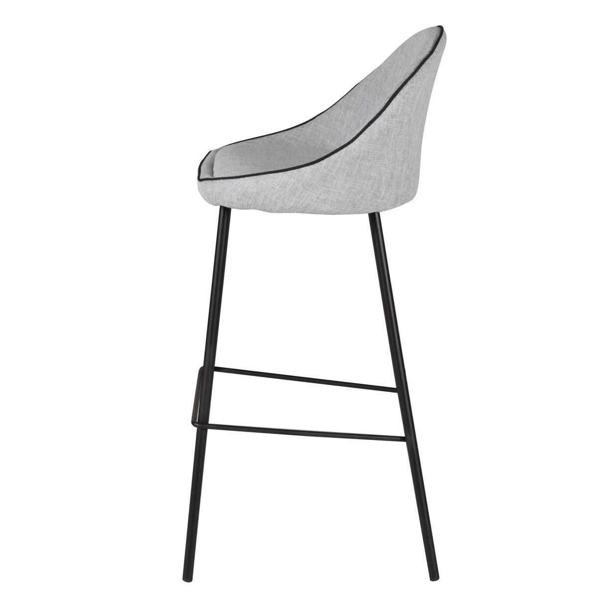 Chaise de bar en tissu design
