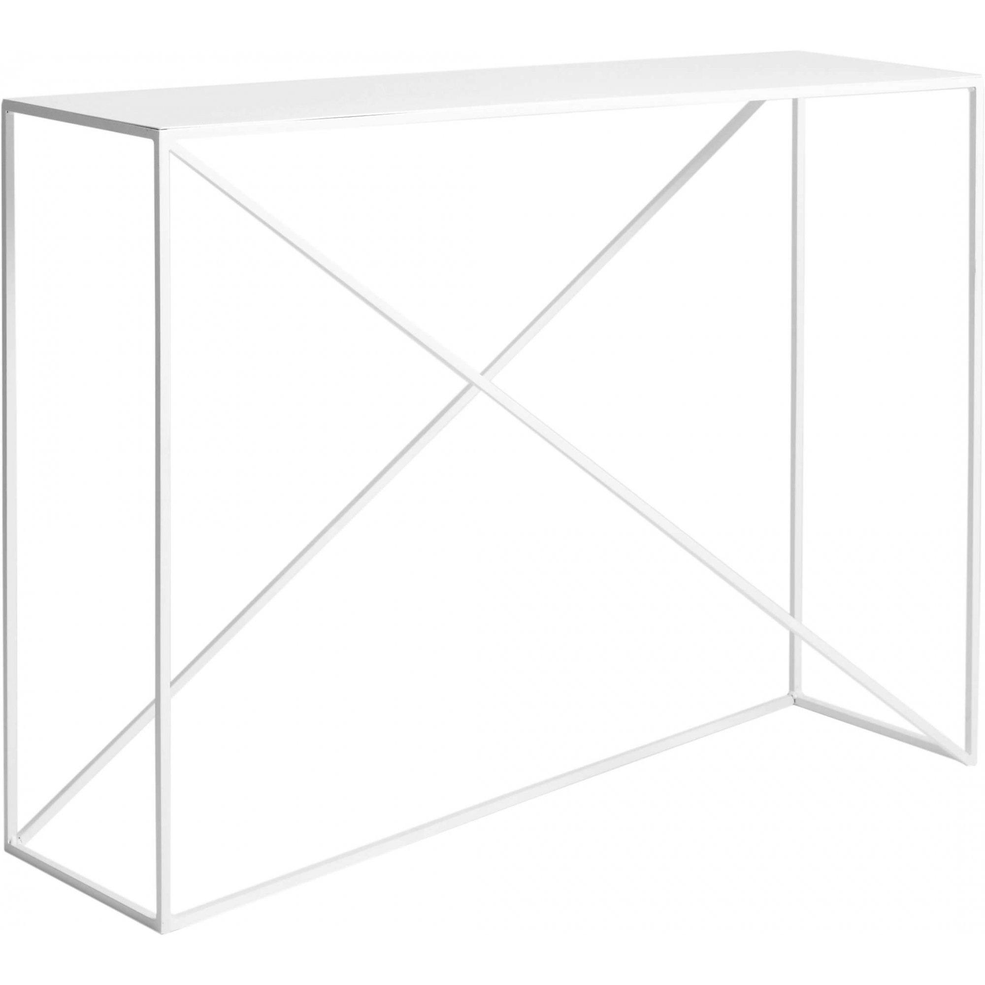 maison du monde Console en métal blanc l100cm