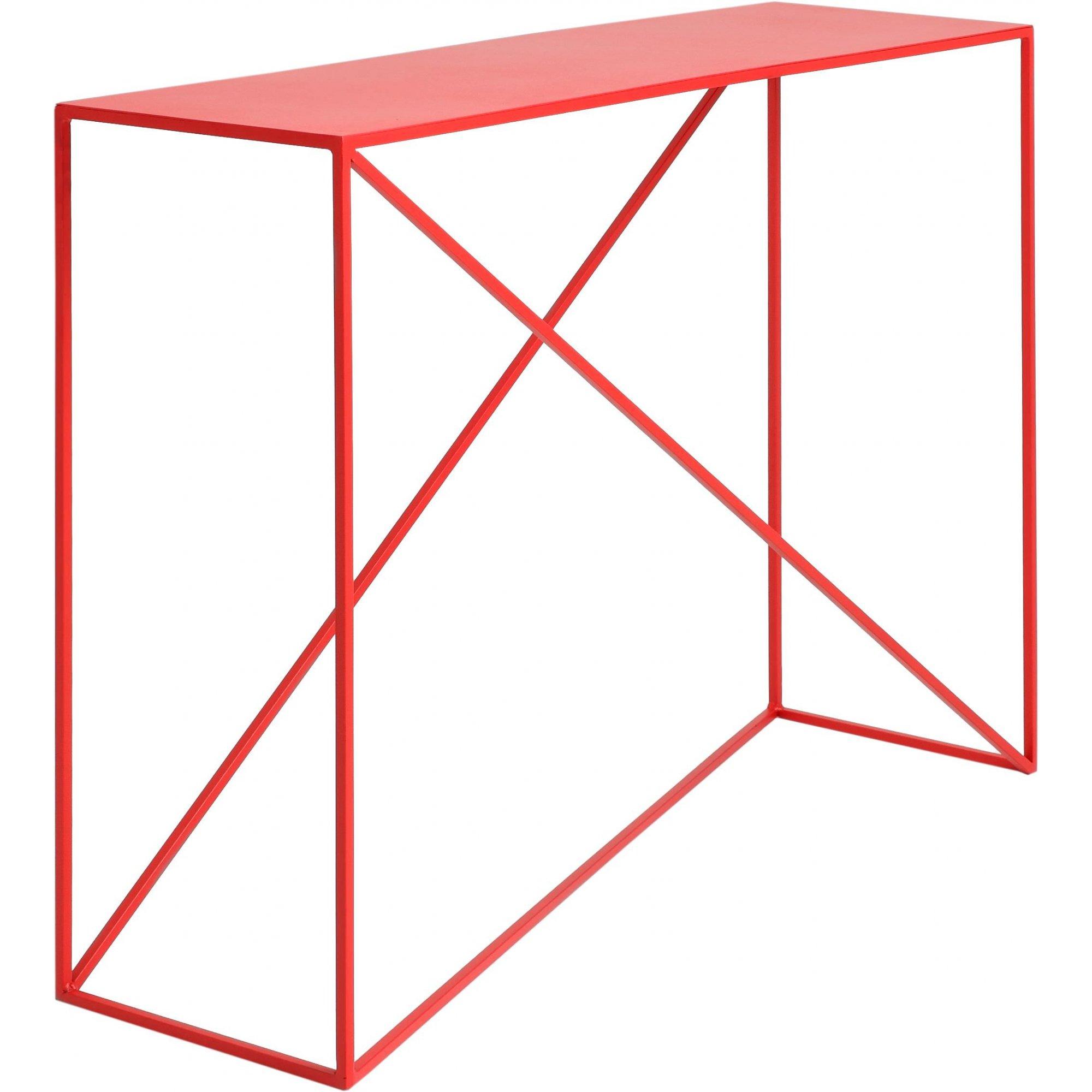 maison du monde Console en métal rouge l100cm