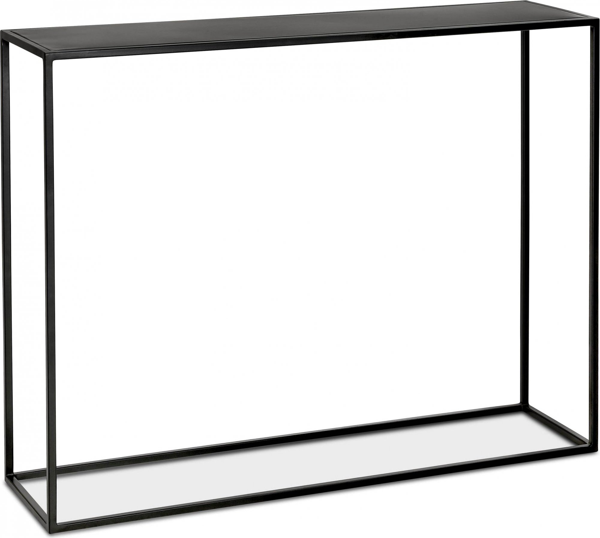 Console design minimaliste en métal thermolaqué noir l110cm