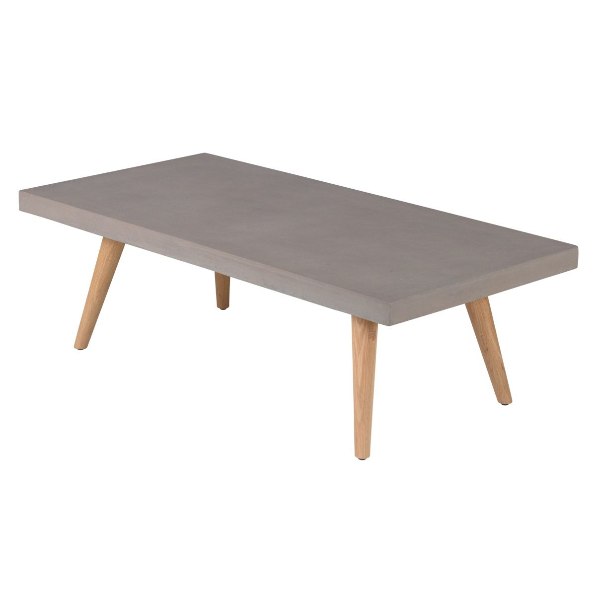 Table basse rectangulaire 120 cm en béton