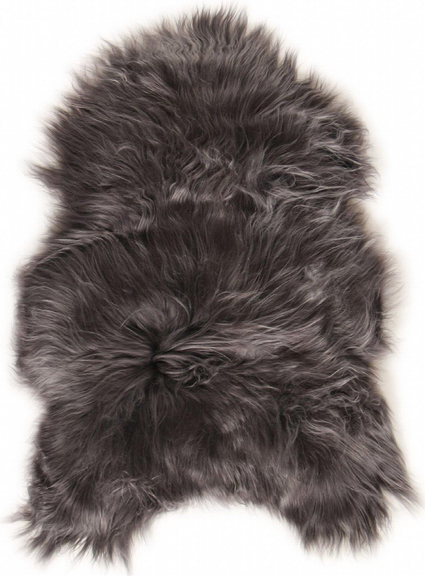 Descente de lit peau de mouton gris 90x60