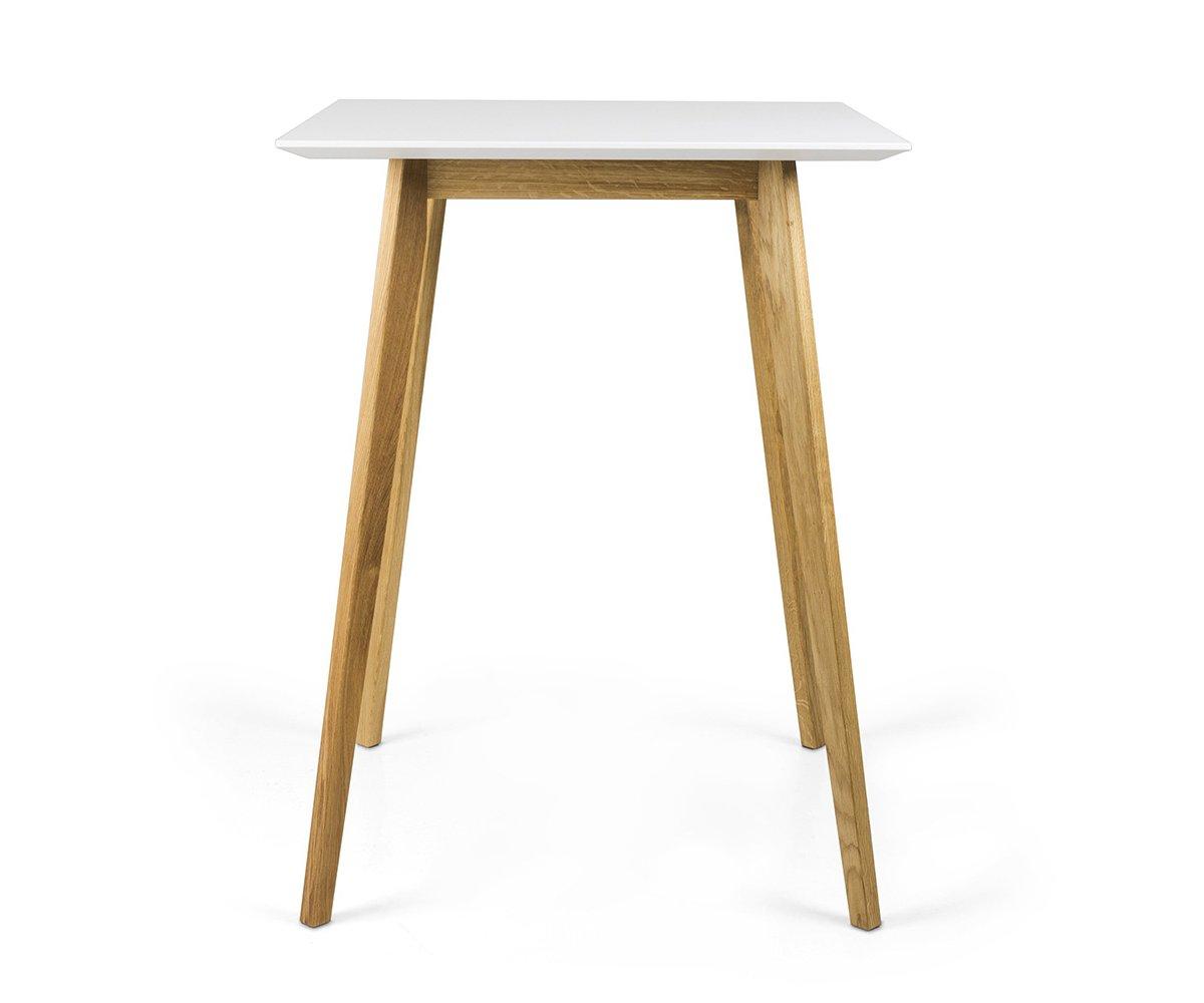 Table haute 105cm scandinave en bois