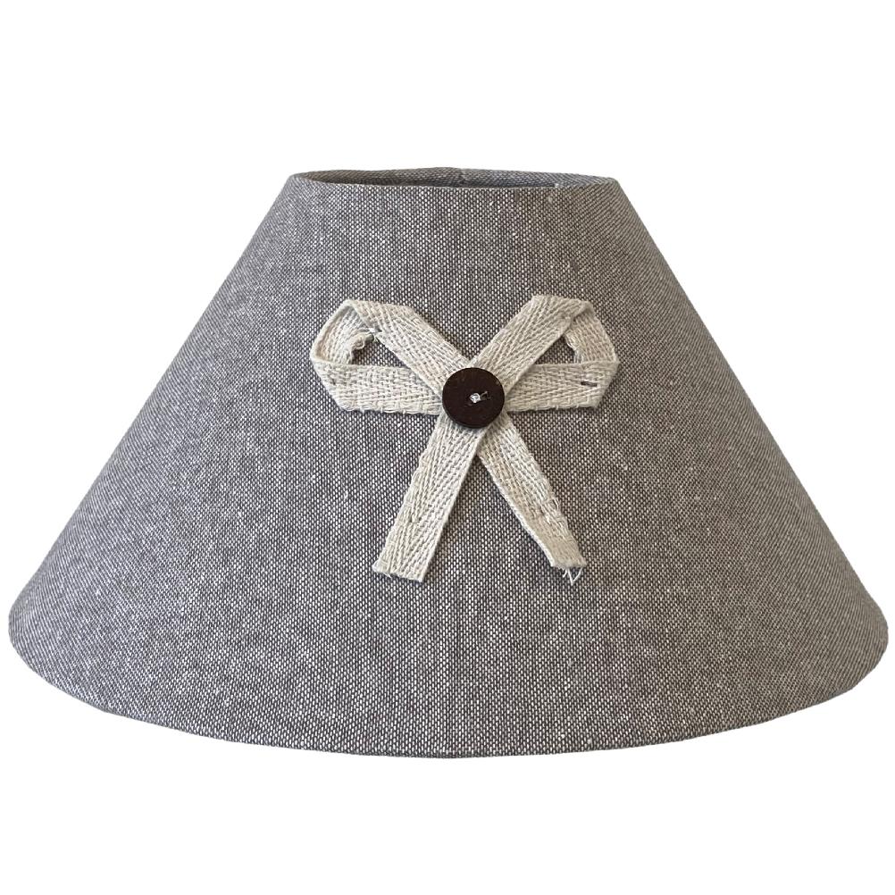 Abat-jour en toile de coton gris