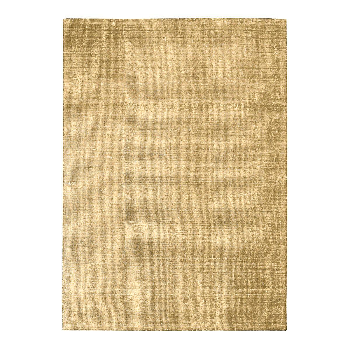 Tapis en laine et coton ocre 120x170