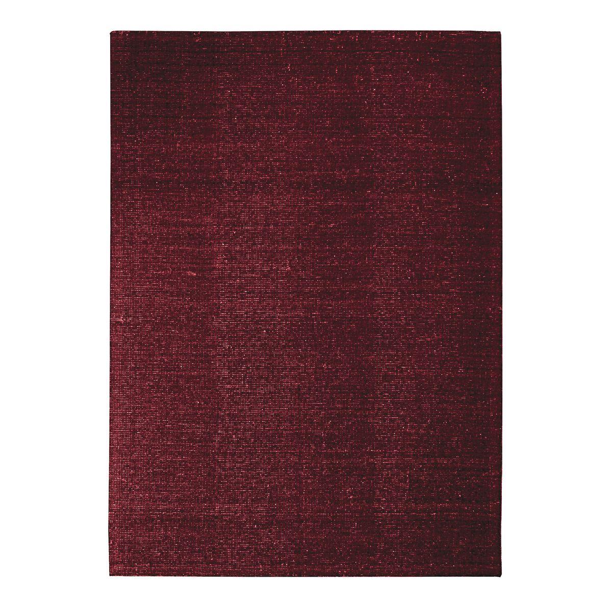 Tapis en laine et coton rouge foncé 120x170