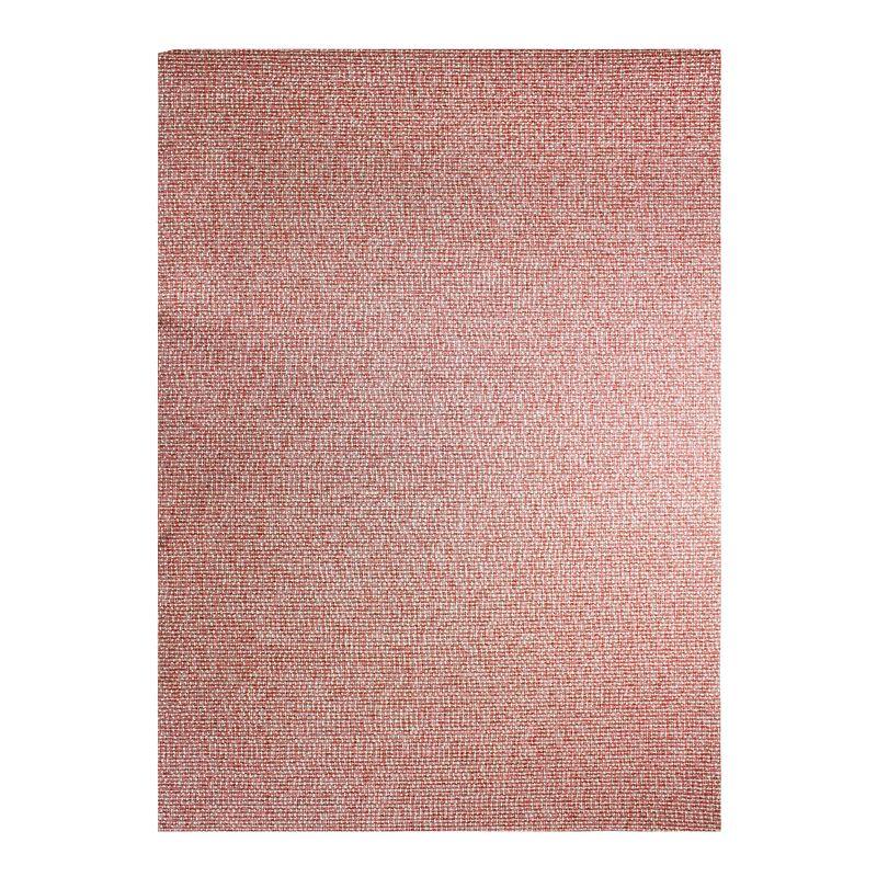 Tapis effet tweed pour intérieur et extérieur rouge 180x280