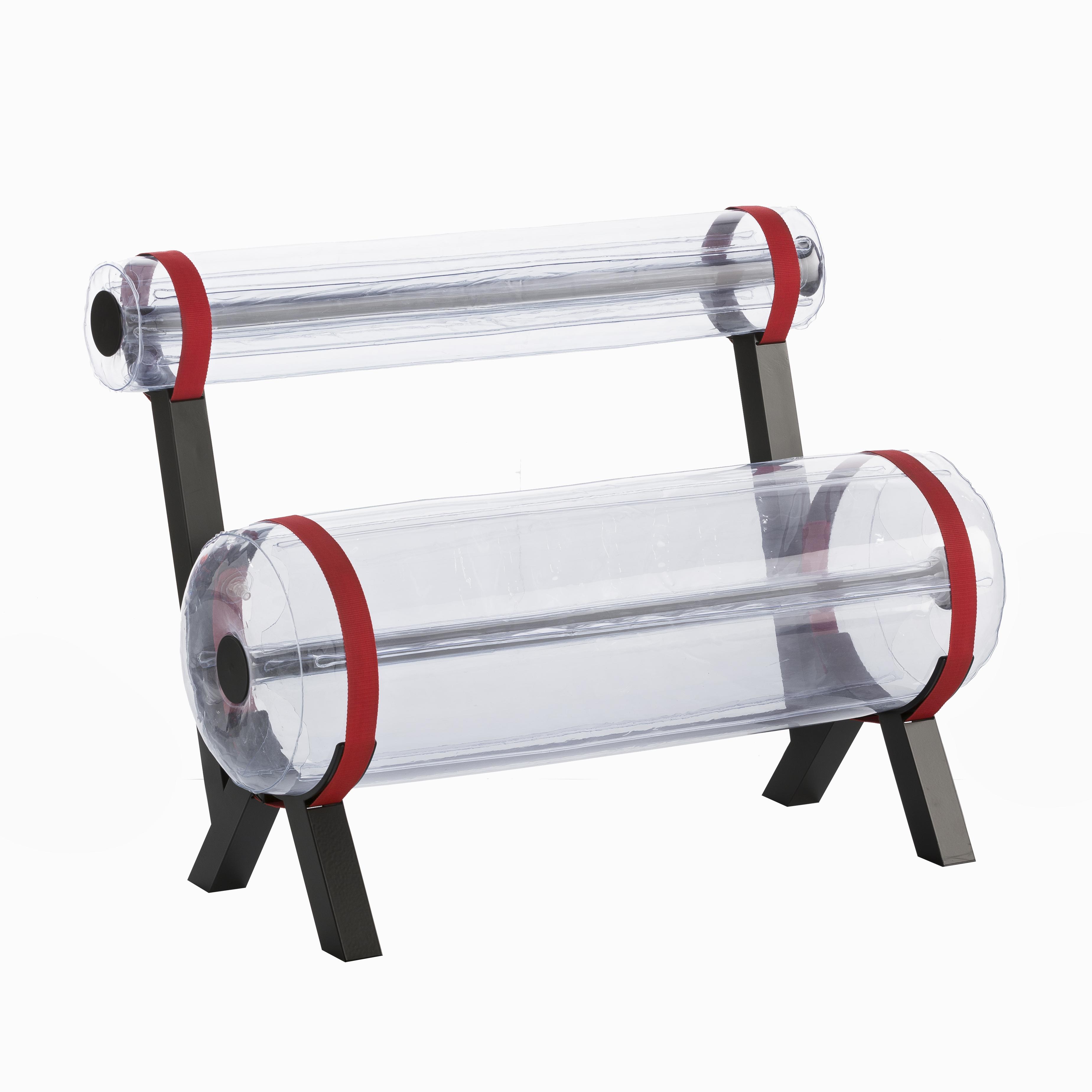 Banc transparent pieds en aluminium L100