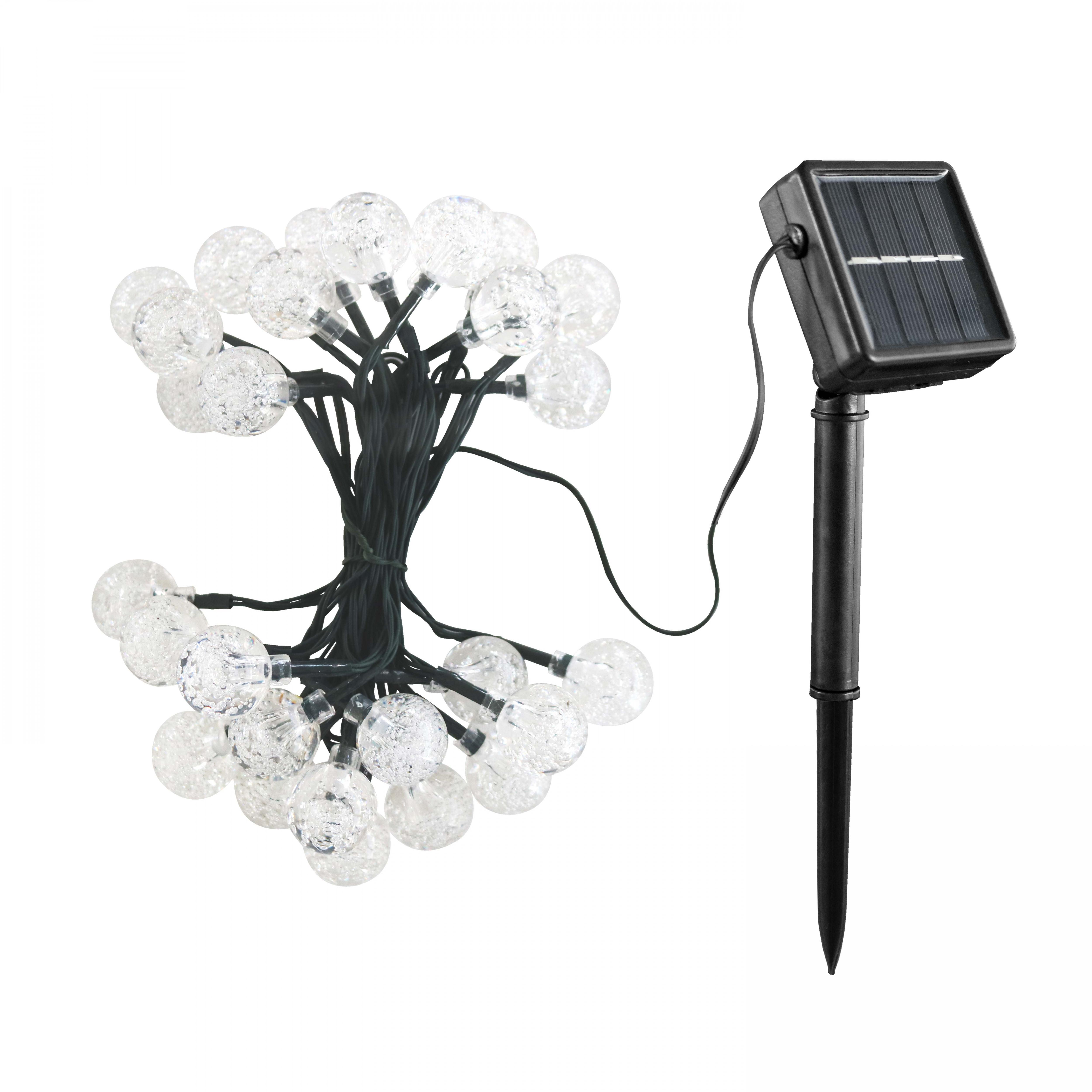 Guirlande guinguette solaire LED multicolore