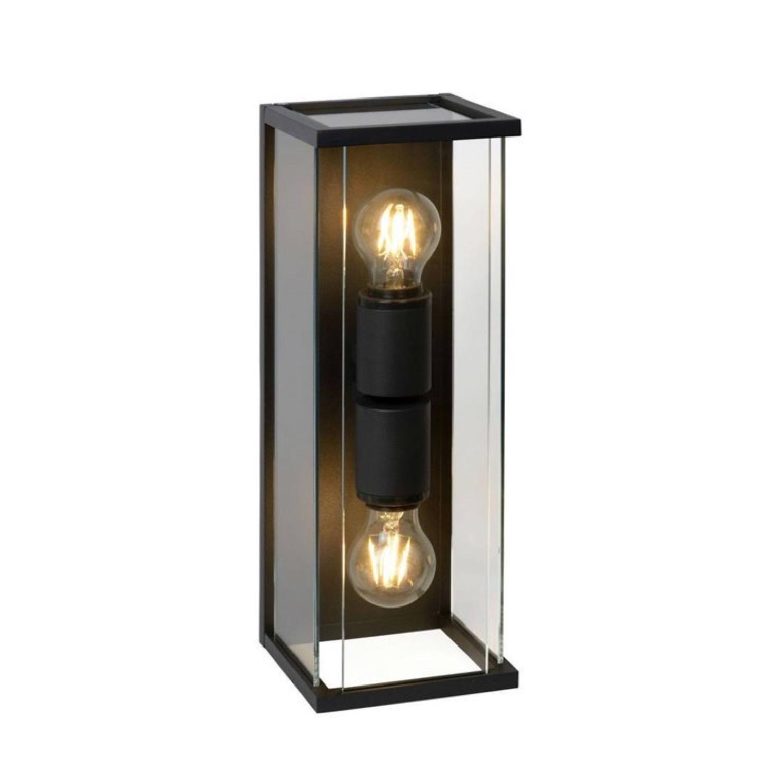 Applique d'extérieur 2 lumières métal et verre H40cm