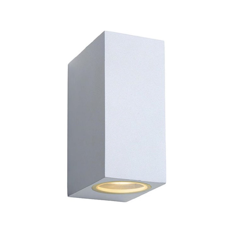 Applique LED d'extérieur 2 lumières métal blanc H15cm