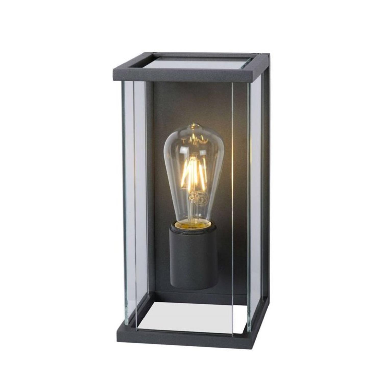 Applique d'extérieur détecteur métal et verre H30cm