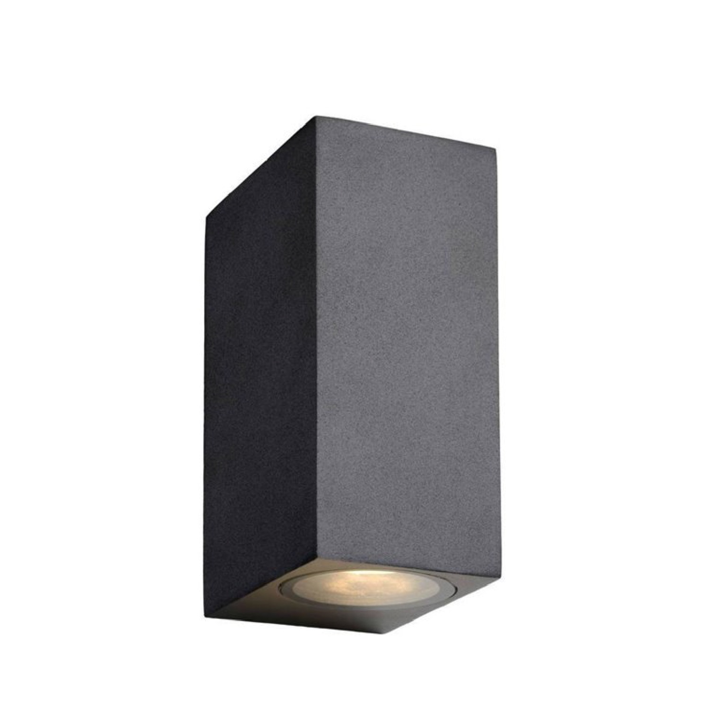 Applique LED d'extérieur 2 lumières métal noir H15cm
