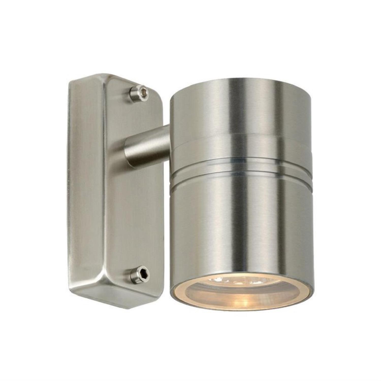 Applique d'extérieur métal argent H11,5cm