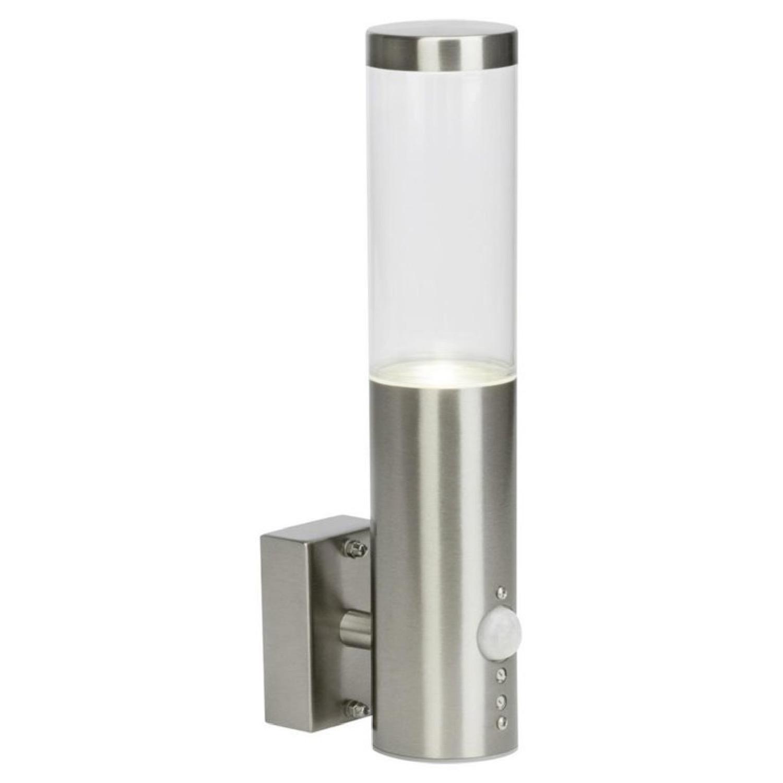 Applique d'extérieur LED avec détecteur argent H29,2cm