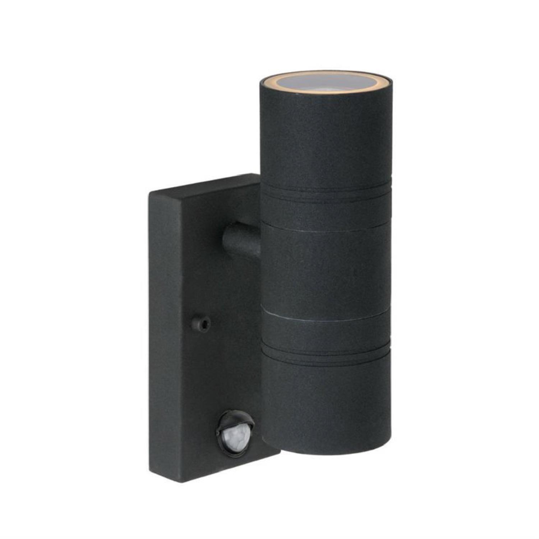 Applique d'extérieur détecteur 2 lumières métal H22,5cm