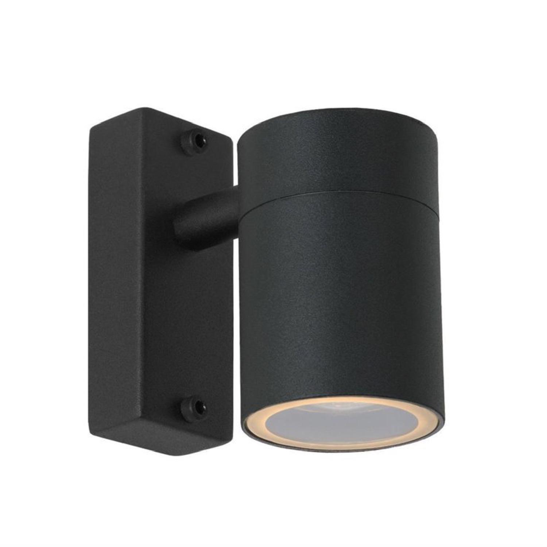 Applique d'extérieur métal noir H11,5cm