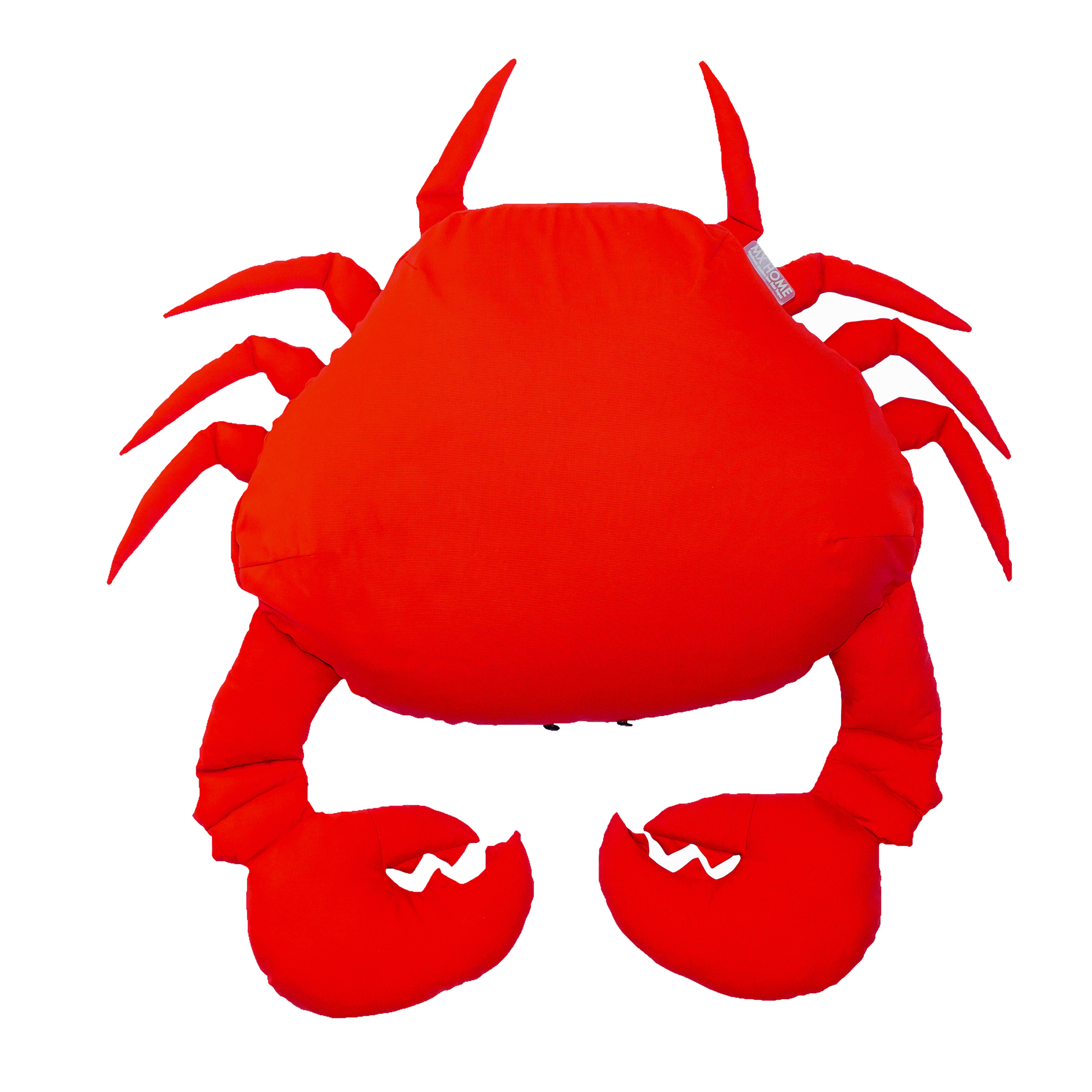 Pouf crabe extérieur flottant rouge vif