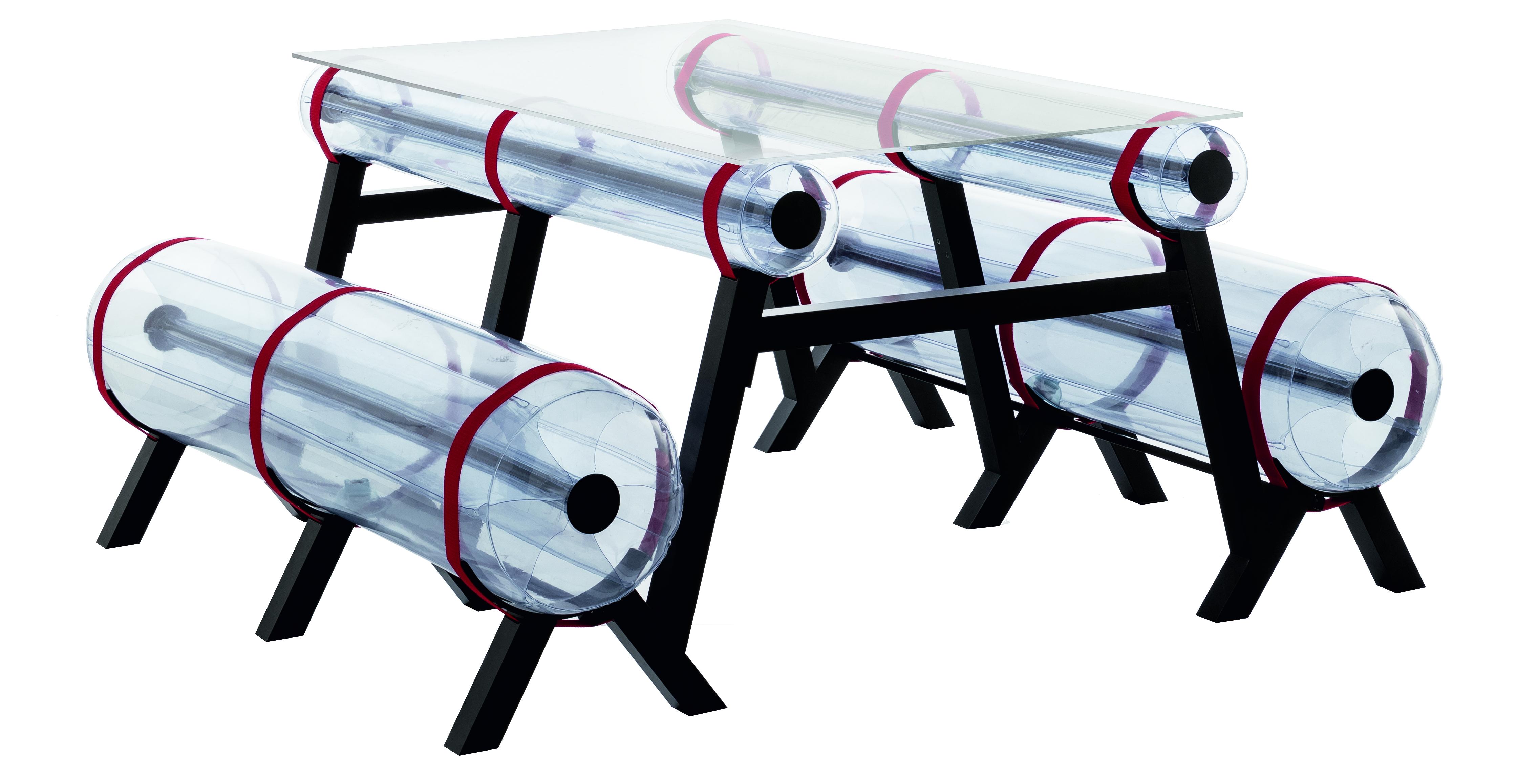 Table transparente L150 intérieur ou extérieur