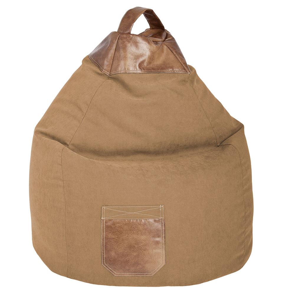 Pouf poire d'intérieur en tissu sable
