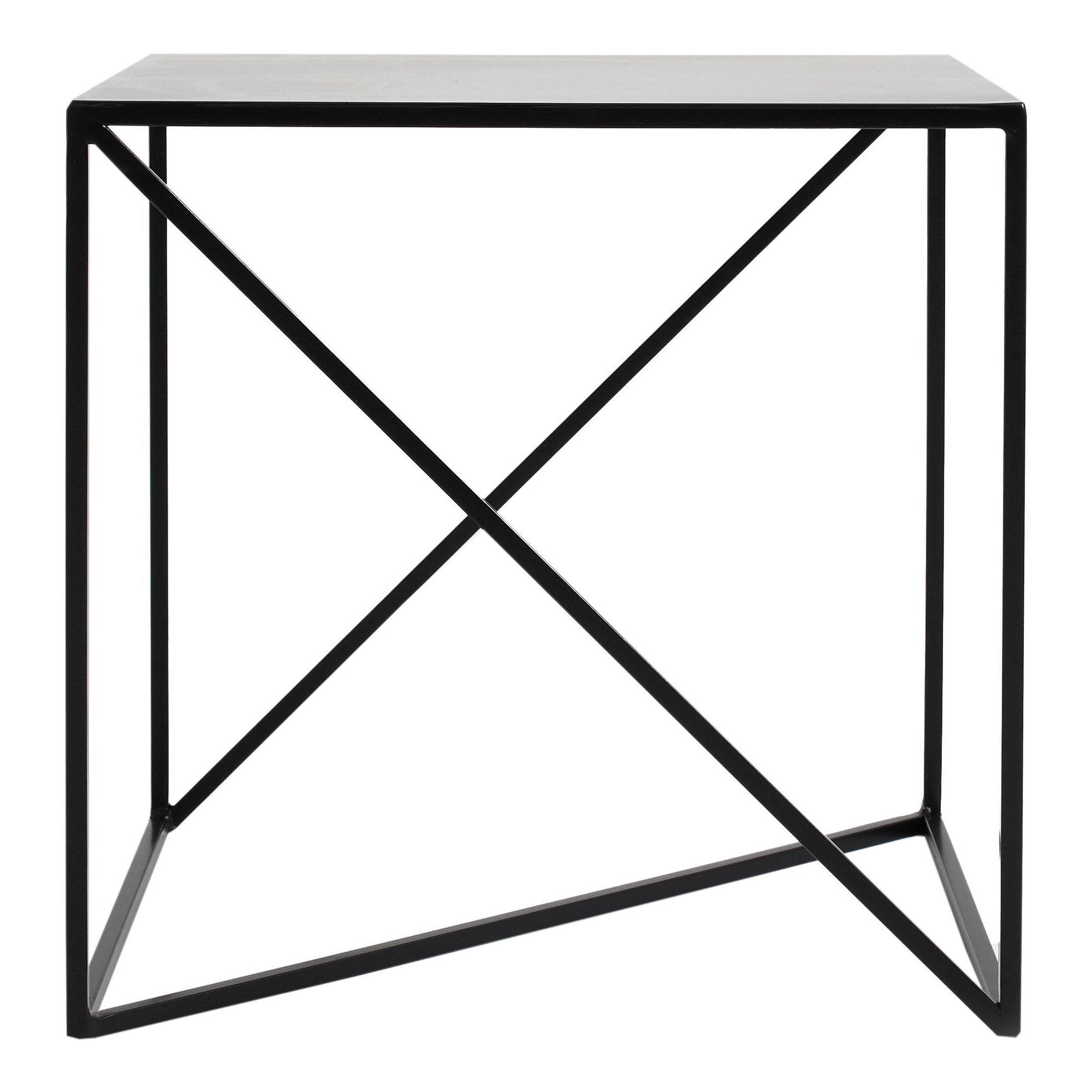 maison du monde Table d'appoint carré en métal noir