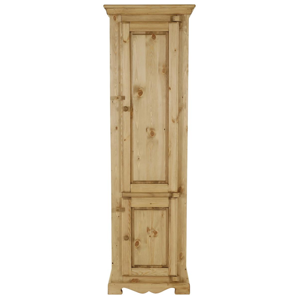 Colonne rustique en pin massif 2 portes