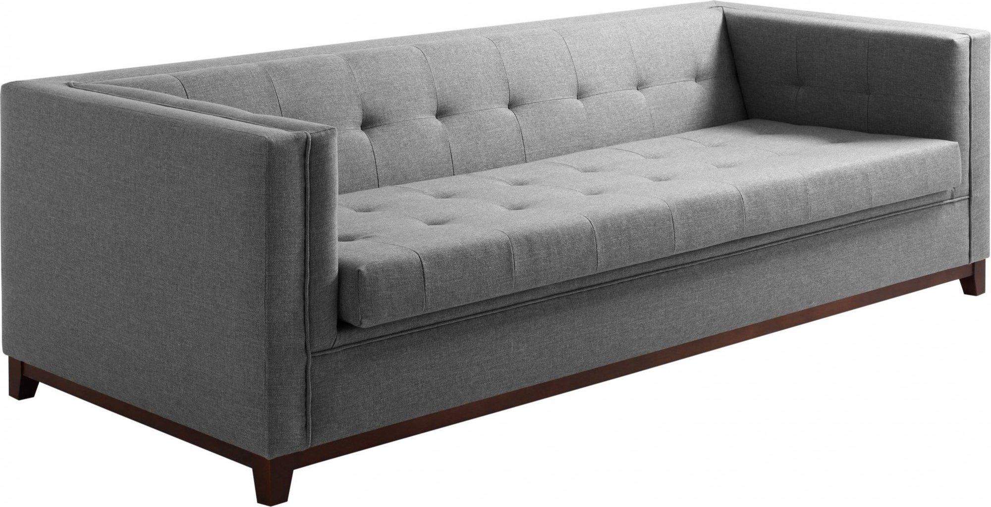 Canapé-lit tissu 3 places gris clair h44cm