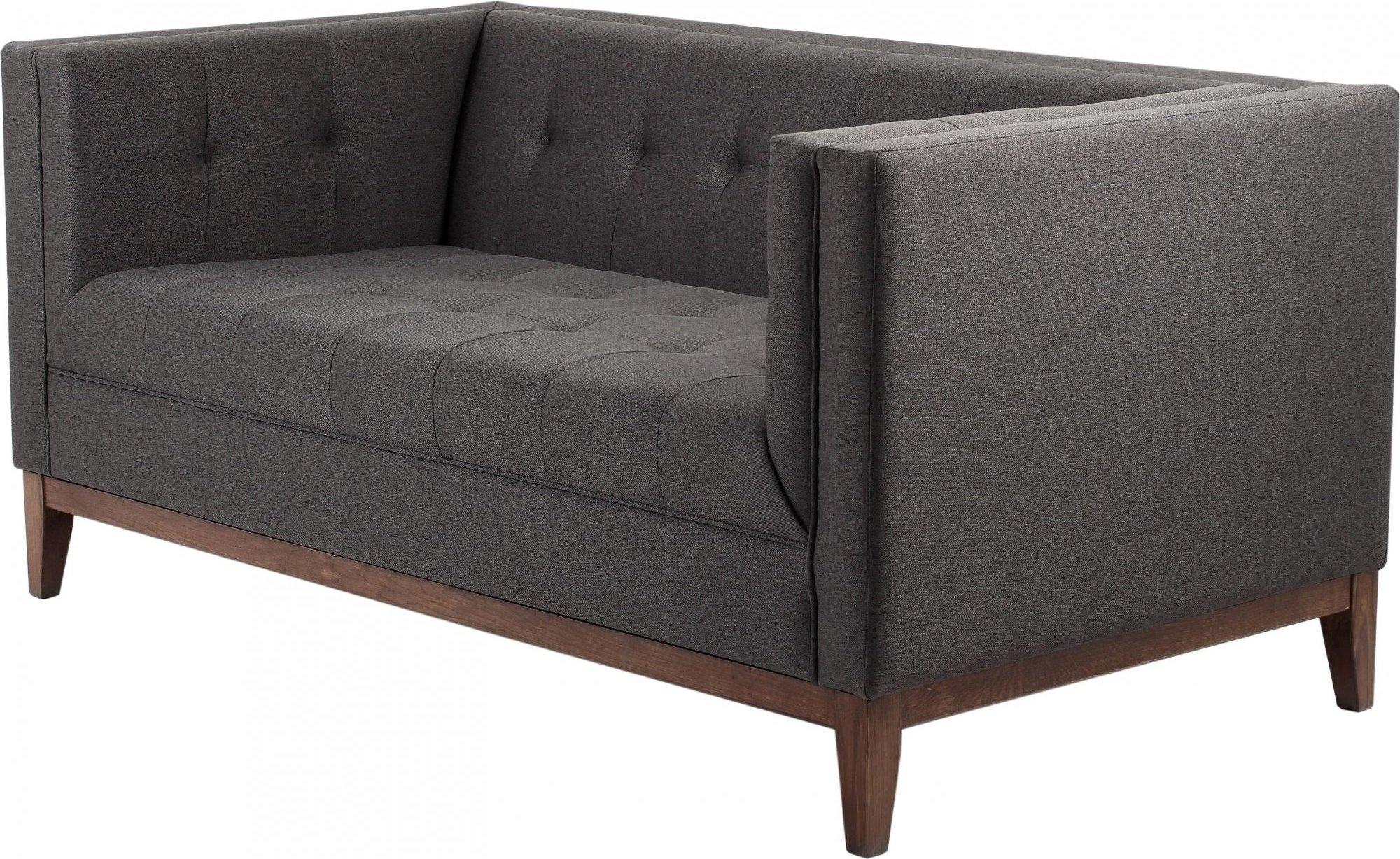 Canapé-lit tissu 2 places gris h44cm