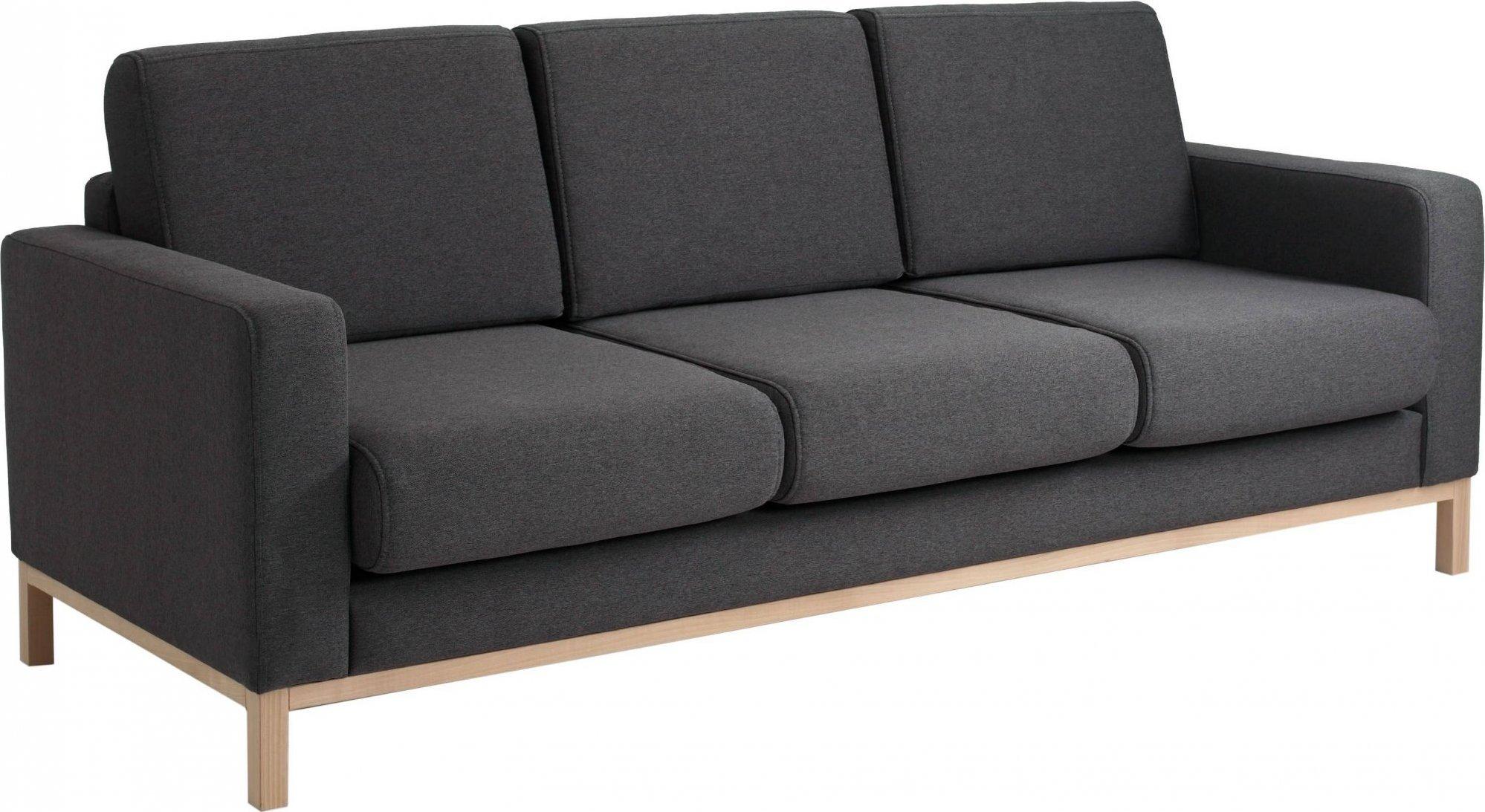 Canapé-lit 3 places tissu gris h47cm