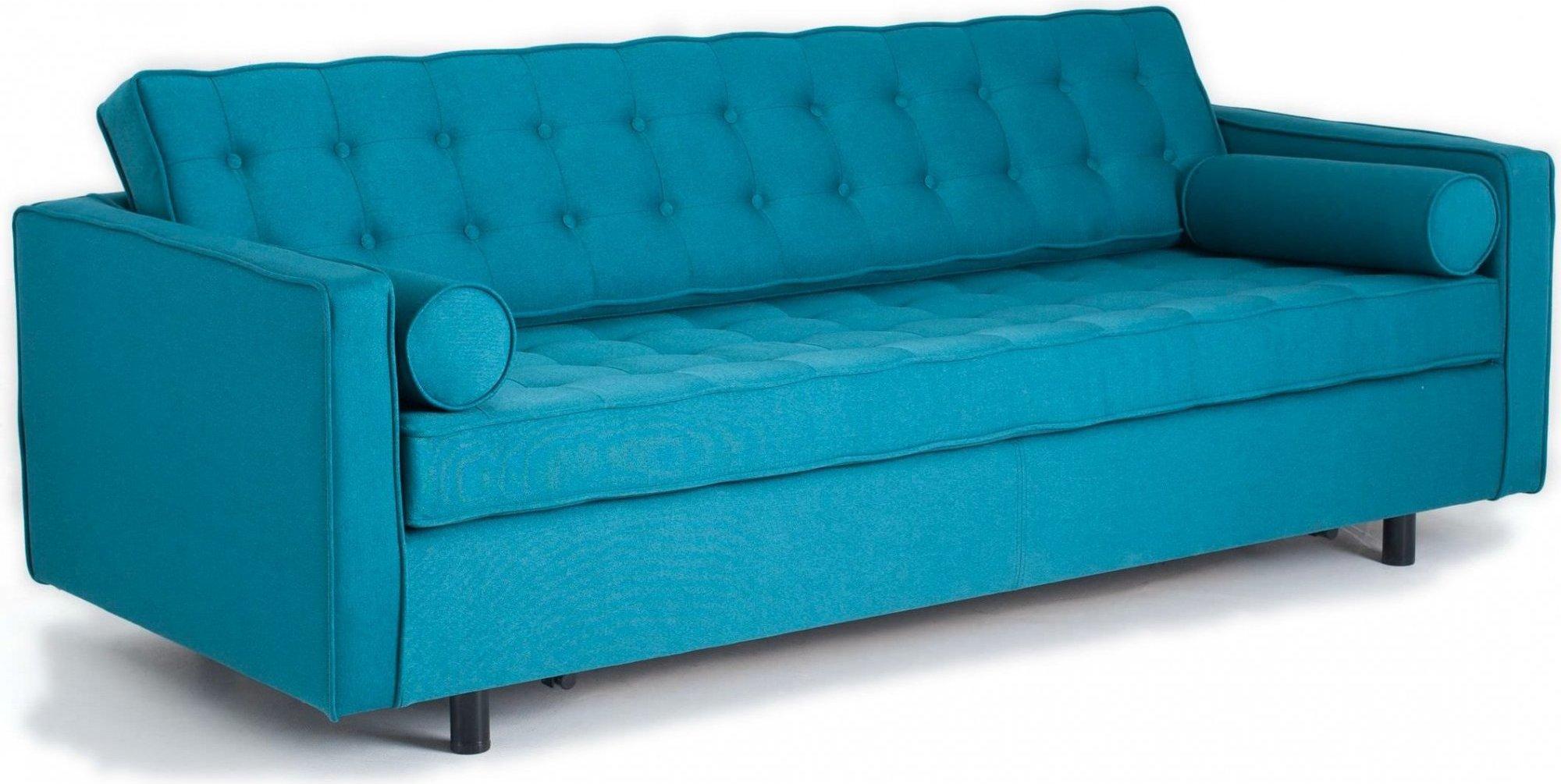 Canapé 3 places tissu bleu tropcial h34cm