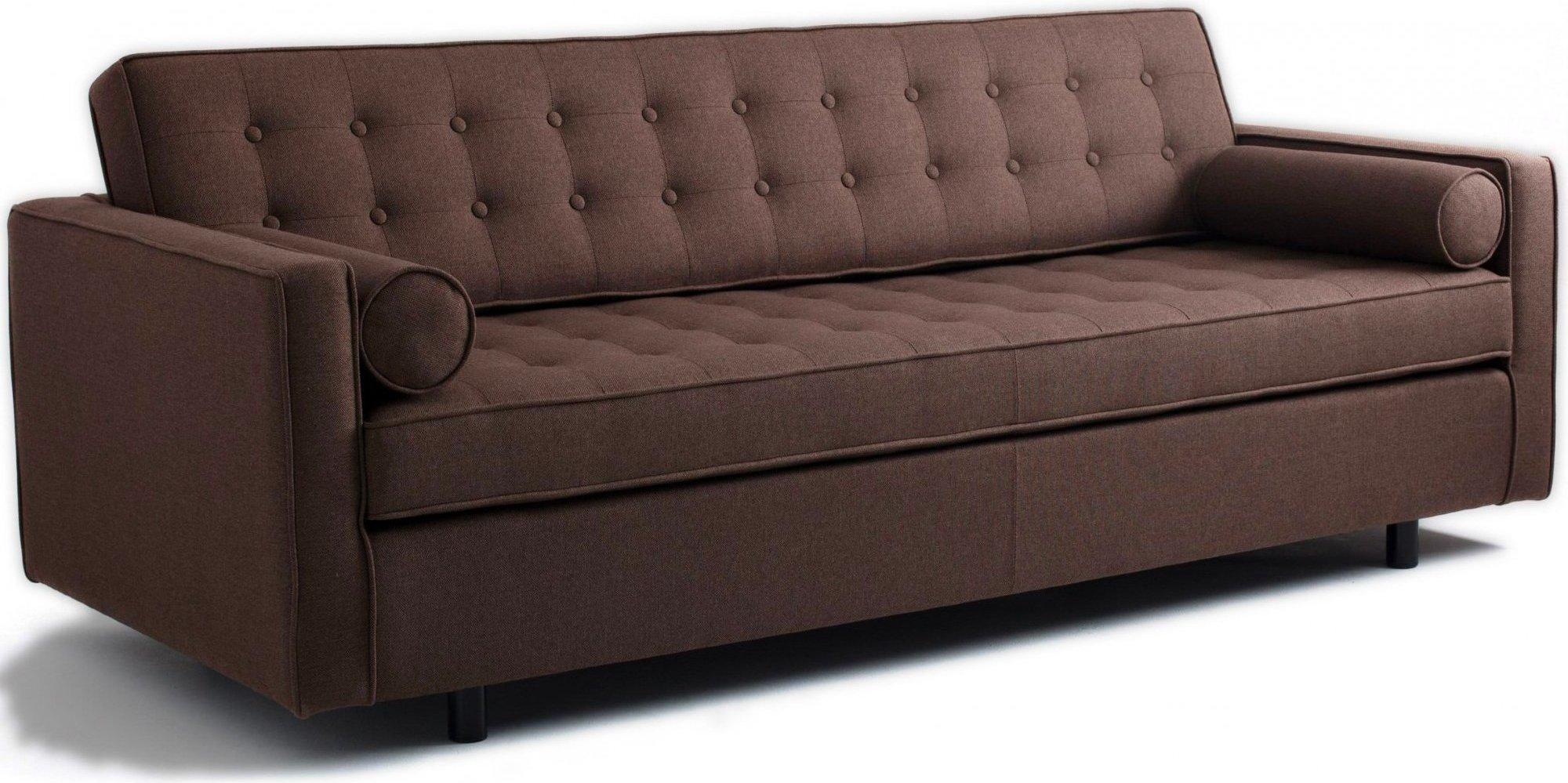 Canapé 3 places tissu marron h34cm