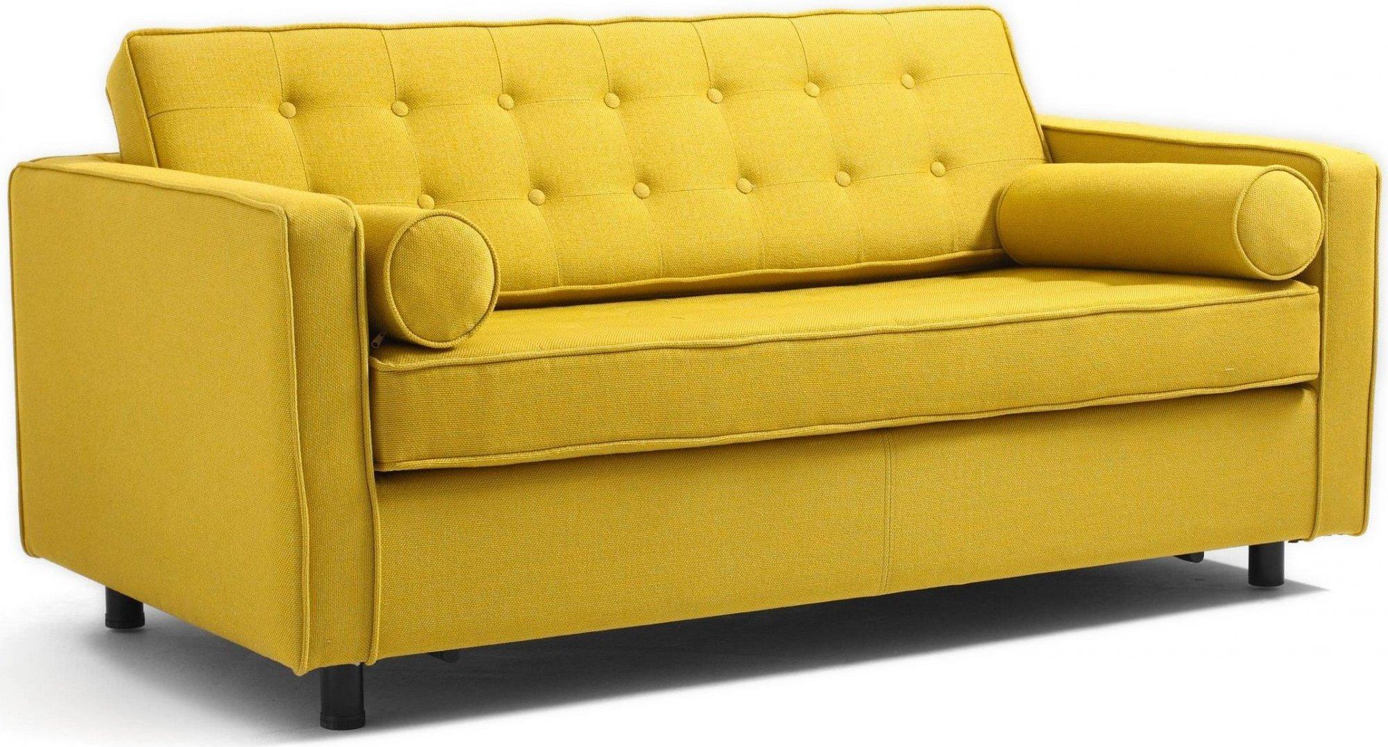 Canapé 2 places tissu jaune h34cm