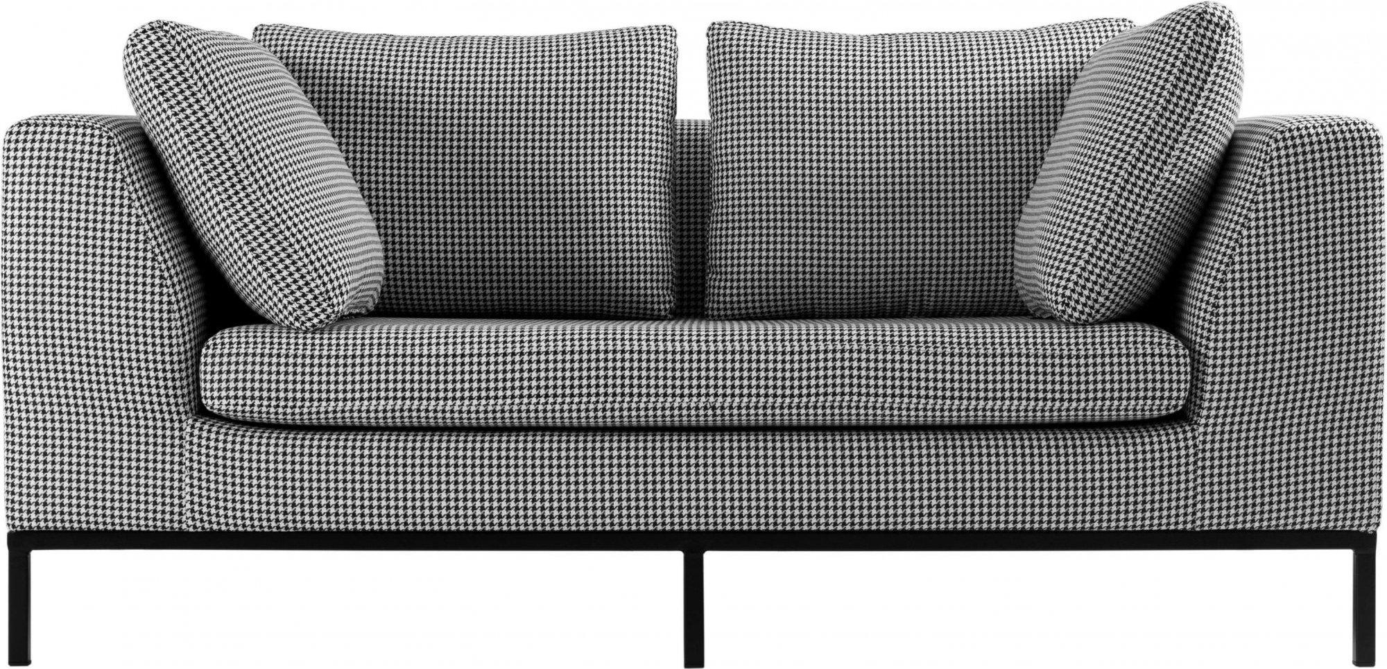 Canapé 2 places tissu gris h42cm