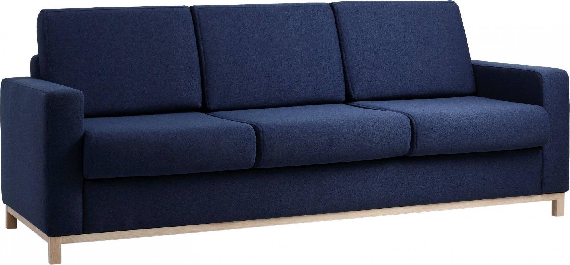 Canapé-lit 3 places tissu bleu h47cm