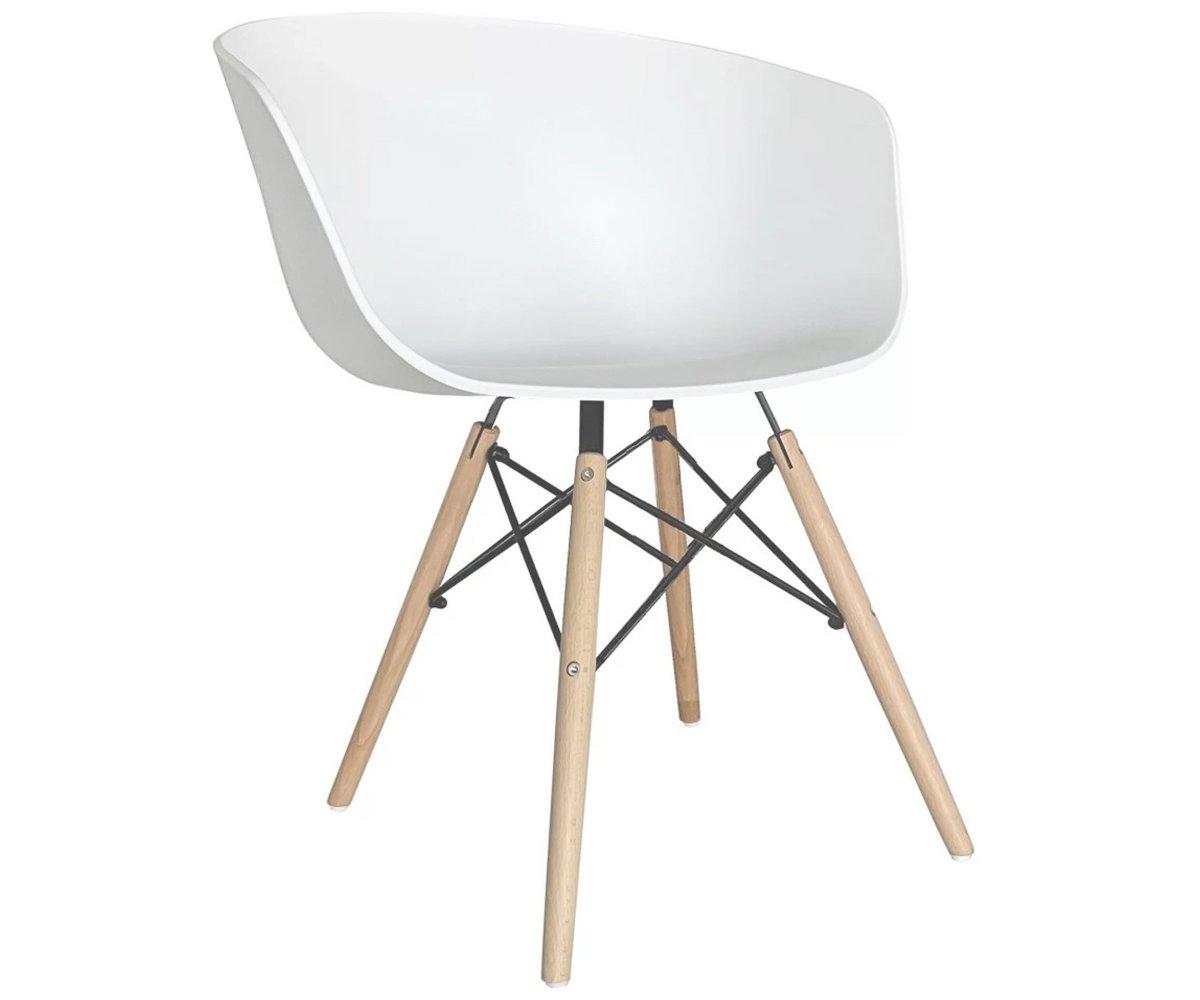 Chaise scandinave design Blanc