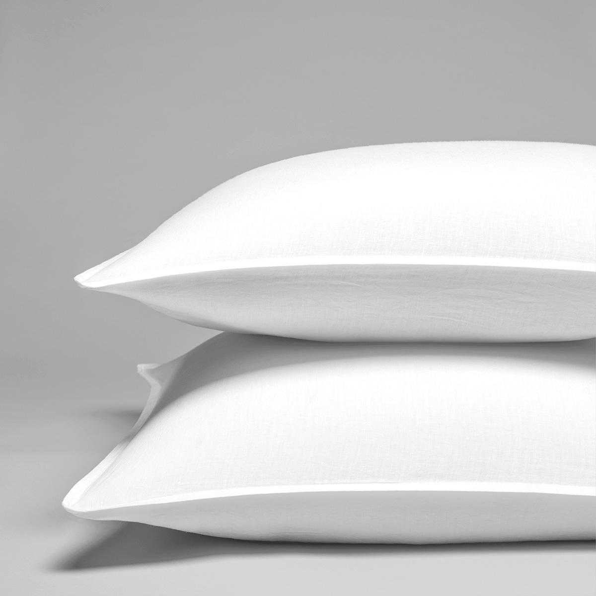 Taie d'oreiller pur lin lavé français 65x65