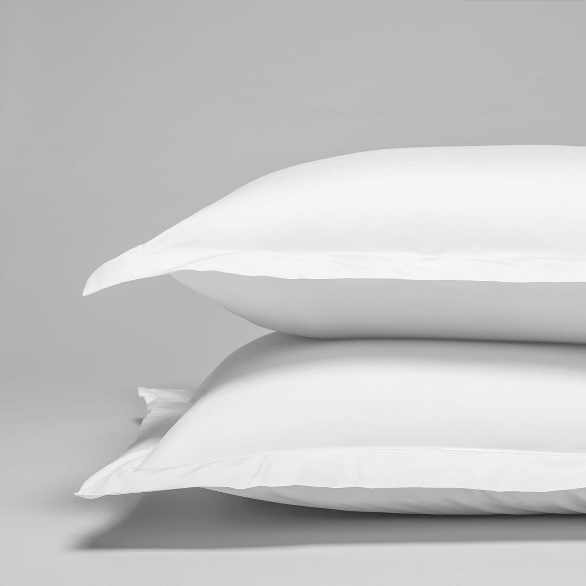 Taie d'oreiller percale de coton peigné 160 fils 65x65